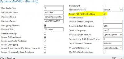 Report PDF Font Embedding - CU4 NAV 2015